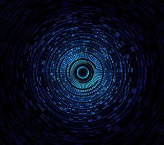 Обои на телефон туннель, технологии, синие