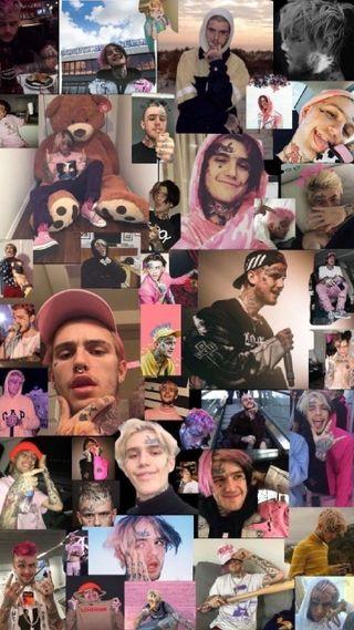 Обои на телефон коллаж, черные, розовые, прекрасные, пип, оранжевые, лил, красые, коричневые, белые, lil peep, gbc