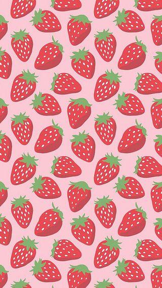 Обои на телефон фрукты, клубника