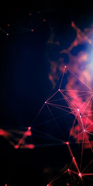Обои на телефон размытые, цифровое, технологии, темные, магия, красые, графика, геометрические, абстрактные, geometric graphics