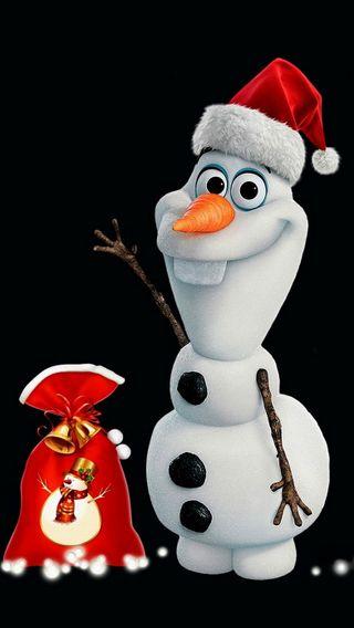 Обои на телефон снеговик, снег, рождество, олаф, зима, абстрактные