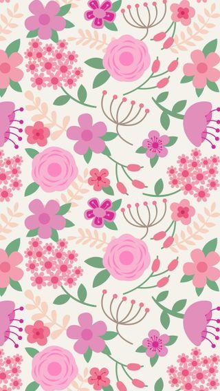 Обои на телефон девчачие, шаблон, цветочные, розовые