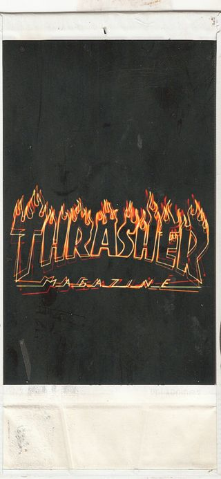 Обои на телефон скейт, thrasher