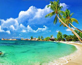 Обои на телефон рай, тропические, пляж