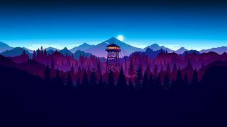 Обои на телефон башня, ночь, лес, игра, firewatch
