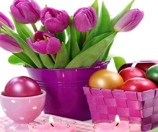 Обои на телефон яйца, пасхальные, цветы, христианские, тюльпаны, свеча, празднование, исус