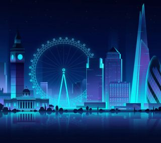 Обои на телефон лондон, глаза, the shard, the gherkin, london eye, cityscapes