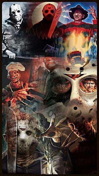 Обои на телефон джейсон, хэллоуин, фредди, ужасы, страшные, против, jason vs freddy