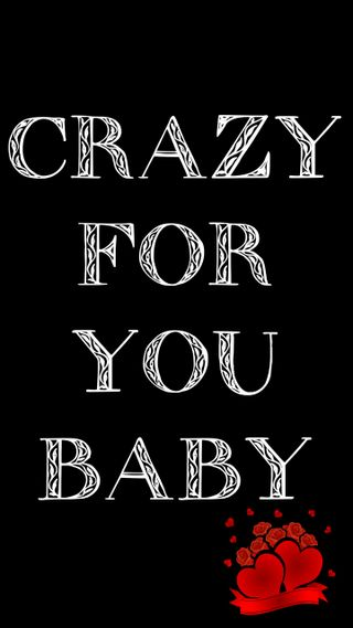 Обои на телефон сумасшедшие, цитата, ты, малыш, любовь, жизнь, love, crazy quote, crazy for you