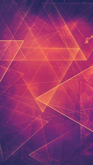 Обои на телефон фиолетовые, треугольник, розовые, геометрия, абстрактные