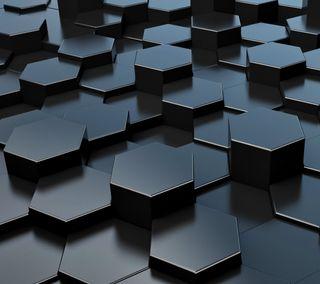Обои на телефон шестиугольники, геометрия, honeycombs, 3д, 3d