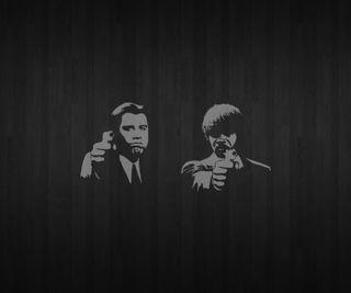 Обои на телефон фильм, черные, фильмы, фикция, оружие, джон, белые, samuel, pulp