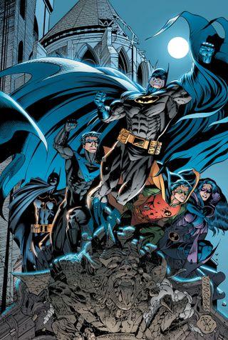 Обои на телефон семья, робин, комиксы, бэтмен, nightwing, dc, batman family