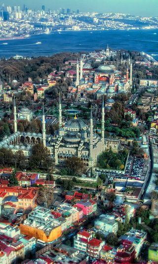 Обои на телефон стамбул, турецкие, прекрасные, город, вид, istanbul city