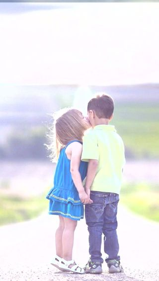 Обои на телефон iphone, прекрасные, девушки, айфон, мальчик, поцелуй, дети