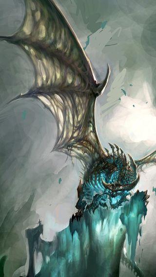 Обои на телефон мороз, мир, дракон, варкрафт, wow, dragon