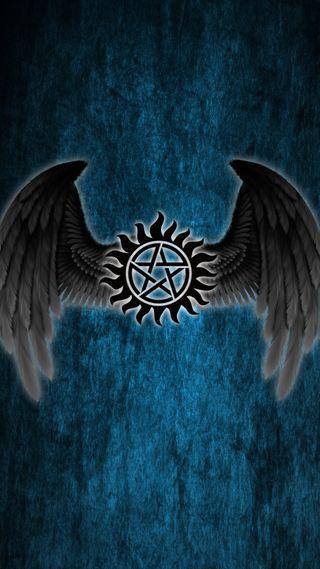 Обои на телефон сэм, сверхъестественное, демон, логотипы, дин, ангел, winchester