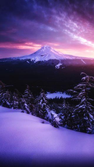Обои на телефон эпичные, холодное, холм, природа, небо, крутые, классные, горы, восход