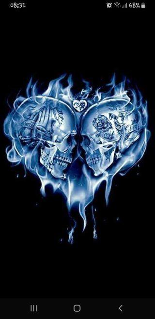 Обои на телефон любовники, череп, романтика, любовь, skull lovers, love