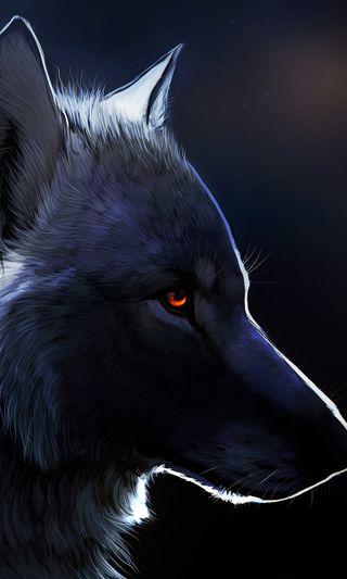 Обои на телефон глаза, волк