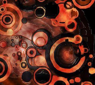 Обои на телефон ретро, черные, оранжевые, абстрактные, retro disks, orange n black, disk