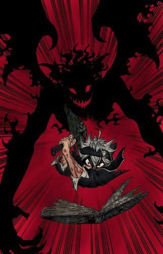 Обои на телефон эффект, демон, черные, страшные, меч, клевер, black demon