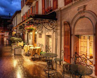 Обои на телефон швейцария, улица, ночь, dinner