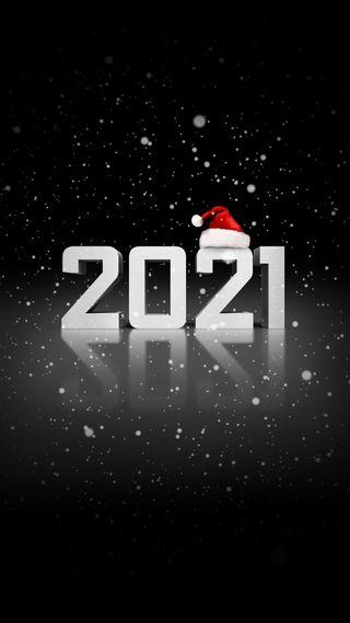 Обои на телефон шляпа, год, счастливые, снег, санта, новый, year 2021, happy, 2021