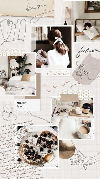 Обои на телефон коллаж, эстетические, стиль, свет, простые, прекрасные, белые, moodboard, chic, beige