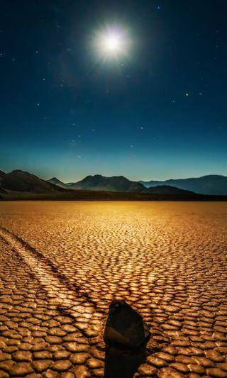 Обои на телефон пустыня, пейзаж, ночь, луна
