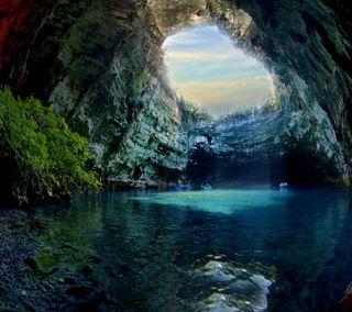 Обои на телефон фантазия, рай, дерево, природа, вода