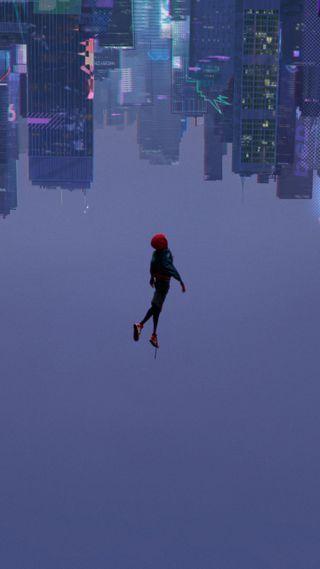 Обои на телефон паук, человек паук, аниме, verse, into, freefall