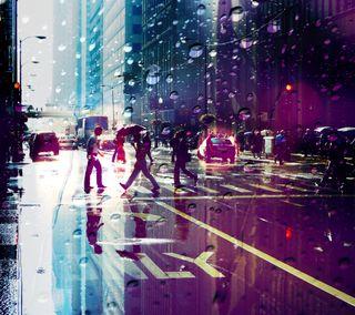 Обои на телефон чикаго, улица, приятные, пейзаж, новый, дождь, город, америка, абстрактные, rainy chicago