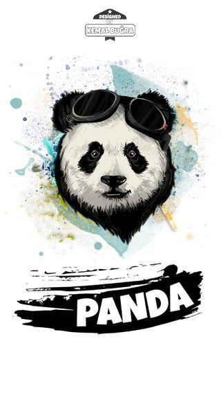 Обои на телефон панда, животные, дизайн