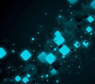 Обои на телефон куб, синие, абстрактные, blue cube