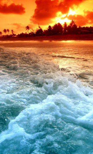 Обои на телефон волны, синие, море, blue waves