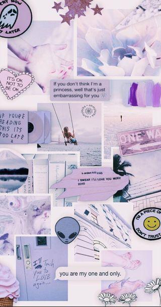 Обои на телефон эстетические, фиолетовые, tumblr