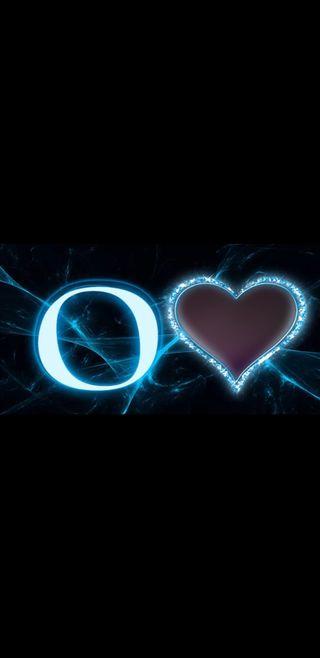 Обои на телефон черные, синие, молния, буквы, o letter