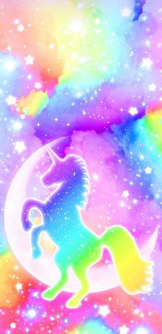 Обои на телефон яркие, радуга, красочные, единорог, галактика, mixedrainbowunicorn, galaxy