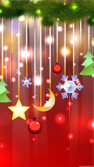 Обои на телефон рождество, красные, звезды, желтые, nieve, gris, arbol