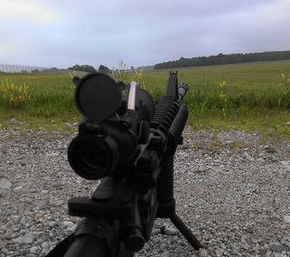 Обои на телефон м4, оружие, винтовка, m4 rifle, acog