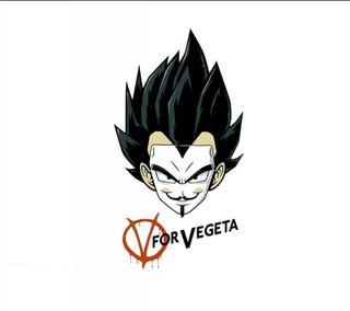 Обои на телефон вегета, v for vegeta, fgsd