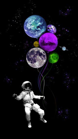Обои на телефон планета, фантазия, планеты, мир, космос, космонавт, земля, звезды, галактика, вселенная, galaxy