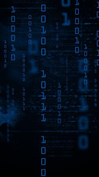 Обои на телефон черные, синие, код, матрица