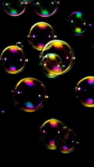 Обои на телефон пузыри, радуга, soap
