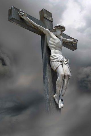 Обои на телефон крест, исус, crucified