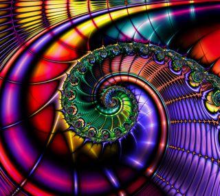Обои на телефон спираль, фрактал, радуга, красочные