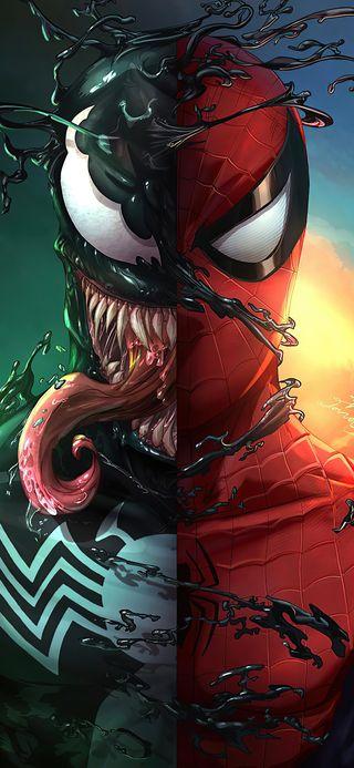 Обои на телефон супергерои, черные, череп, человек паук, паучок, марвел, красые, дракон, герой, веном, аниме, venom x spidey, marvel, dragon