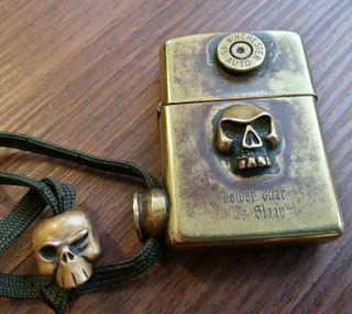 Обои на телефон череп, огонь, крутые, zippo, bullet