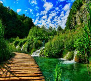 Обои на телефон замечательный, водопад, природа, wonderful nature